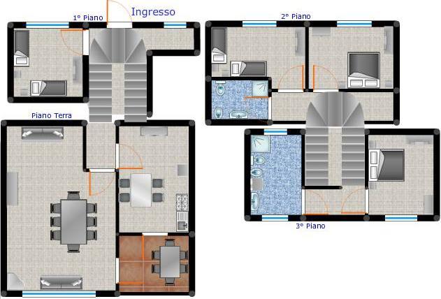 Appartamento in affitto a Ponza, 6 locali, prezzo € 500 | CambioCasa.it